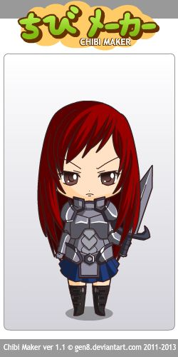 Erza Scarlet (Fairy Tail) Chibi Maker