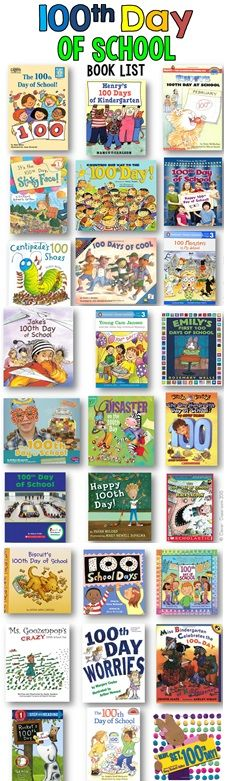 100th day of school books and activities plus a freebie.