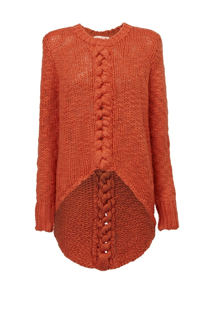 Sweater with longer shaped back