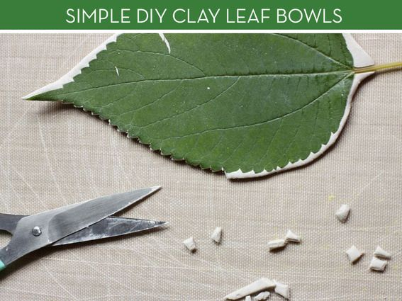 How to: Elegant (And Easy) Clay Leaf Bowls