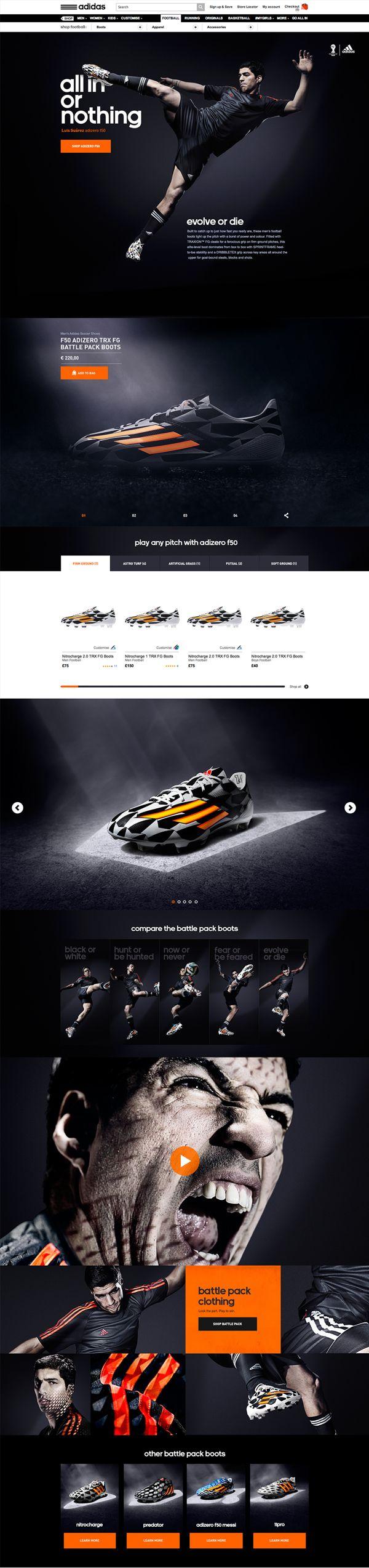 Cool Web Design, Adidas. #webdesign #webdevelopment [http://www.pinterest.com/alfredchong/]