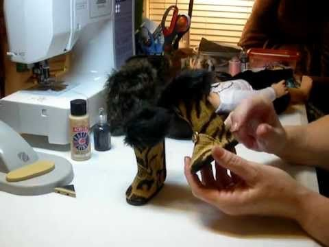 How to make AG doll boots