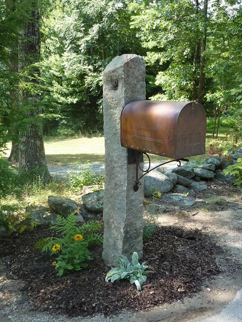 If you missed the part about the very last, large Smith and Hawkin mailbox, the antique granite fence post found on our property, and the a...