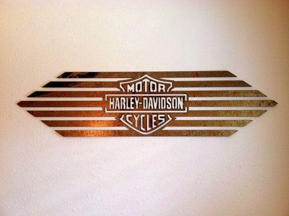 Large Wall Art Vintage Antique Rust Metal Harley Davidson