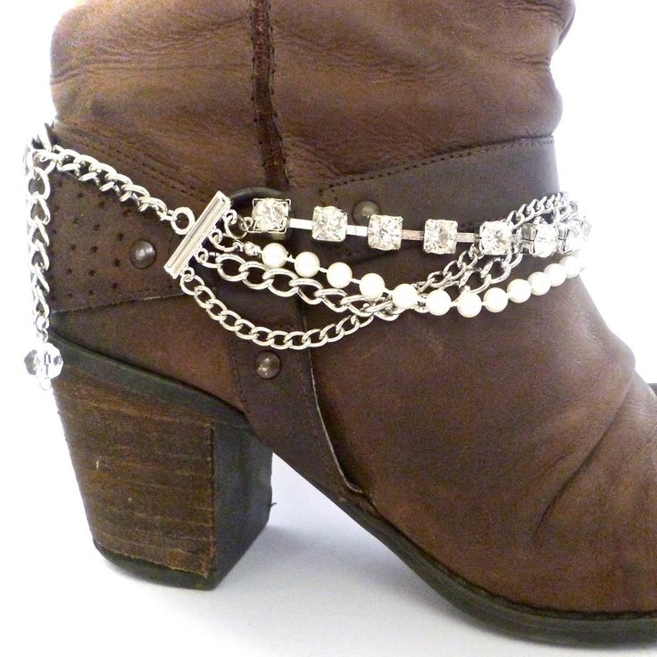 Boho up, summer boots, boot chains and bracelets for your full accessorised summer look. From www.bootbooti.etsy.com