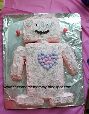 jewelry sales online pink robot cake  robot cake for girls