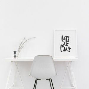 Let's do this | Wall art Quote Print to inspire