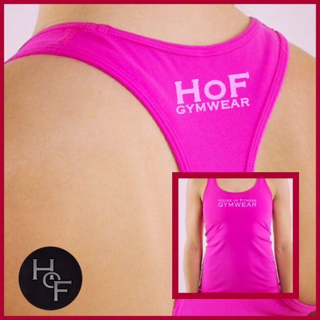 Pink tank gymwear top   #hofgymwear #fitness #gym #clothing #fashion #fitfam