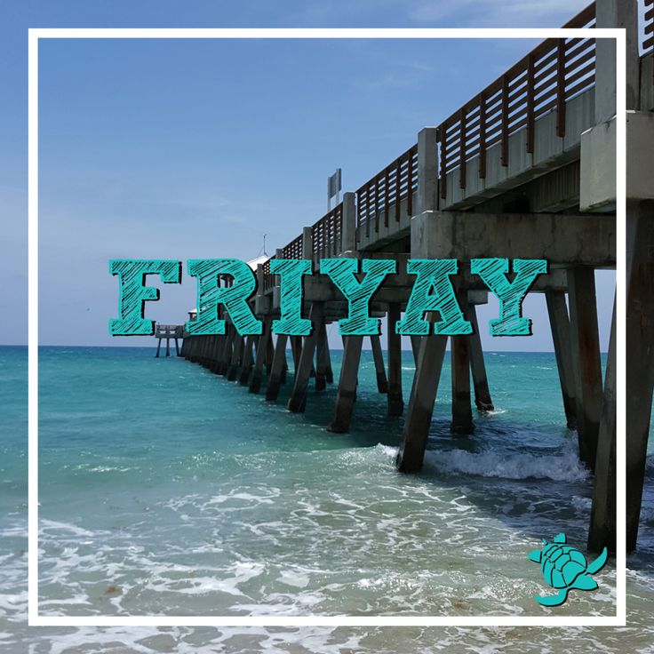 Thank Goodness its Friday TGIF - Friyay! Juno Beach Pier, Jupiter, FL ◉ re-pinned by http://www.waterfront-properties.com/junobeachrealestate.php