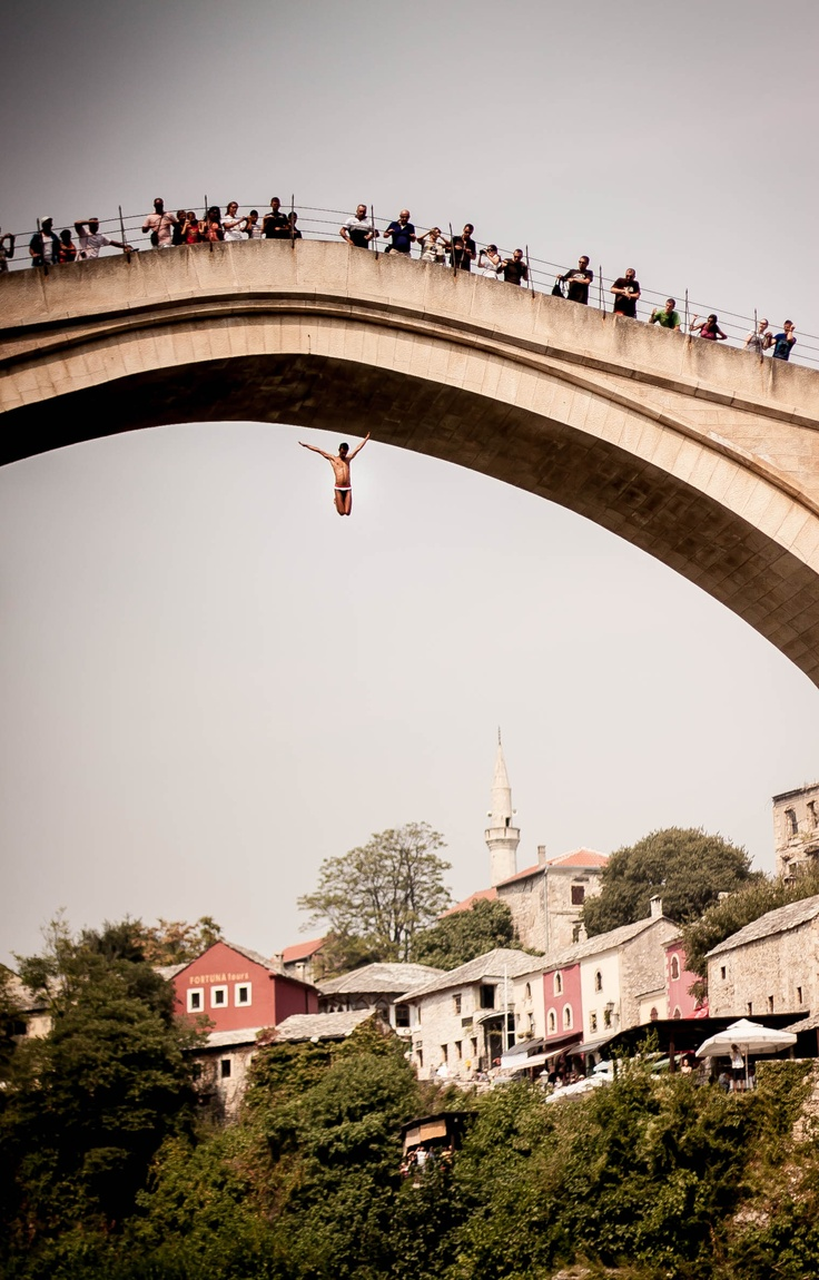 Old Bridge in Mostar, Bosnia and Herzegovina, Balkans   Photo made by Jan Romer