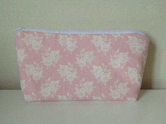 Rose pink cosmetic bag  Tilda kitchen garden by HomeChicHomeGifts