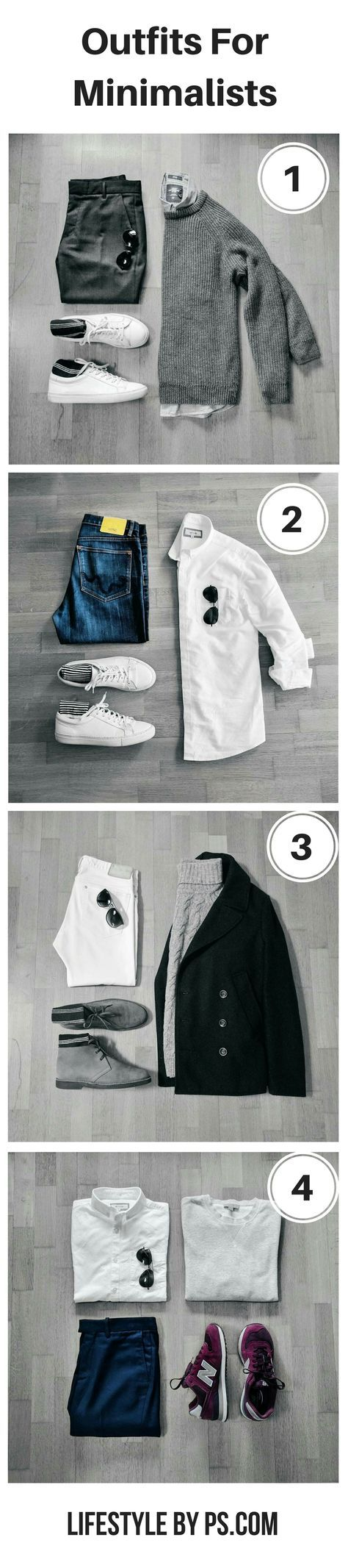 Outfits For Minimalists. #mens #fashion