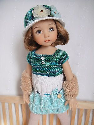 Handknitted Outfit for Little Darling Doll 13 inches Dianna Effner New | eBay. Ends 4/27/14.