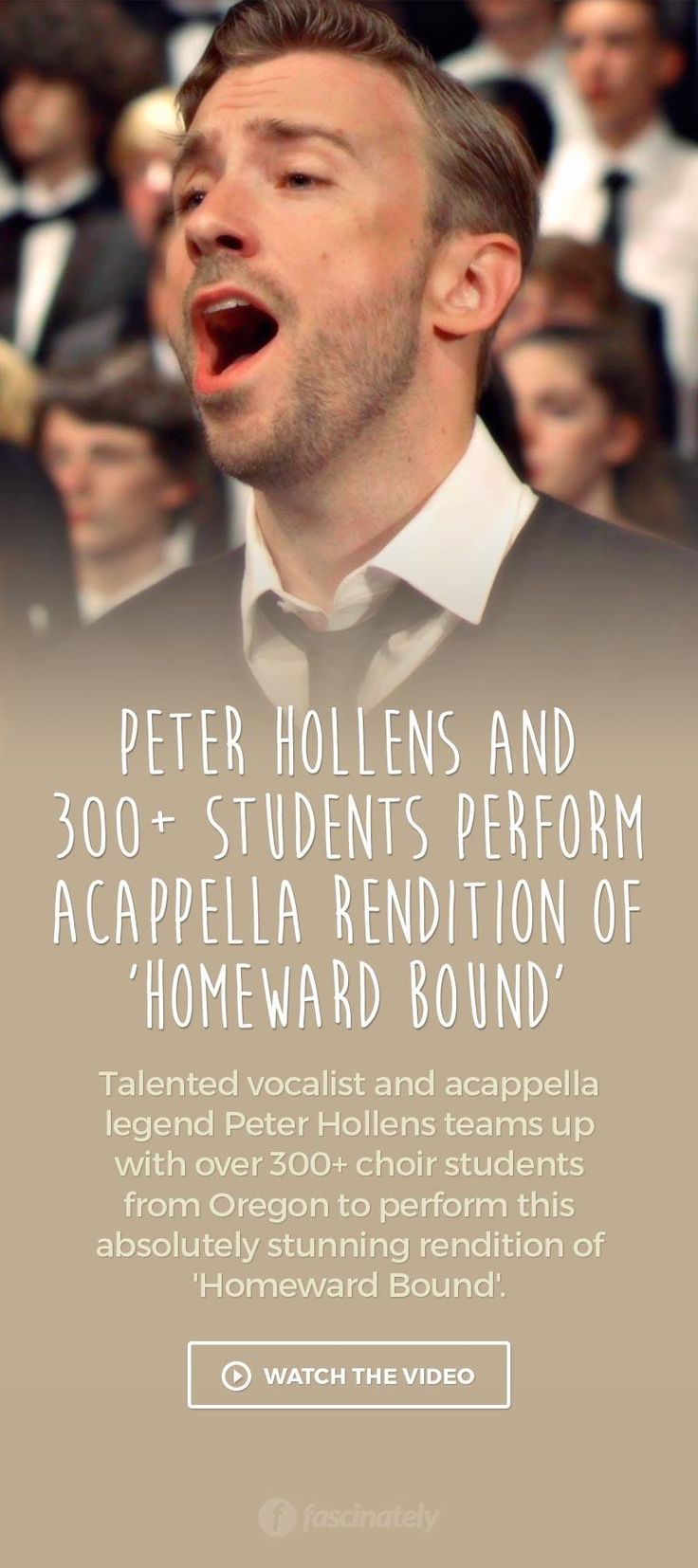 Peter Hollens and 300+ Students Perform Acappella Rendition of 'Homeward Bound'