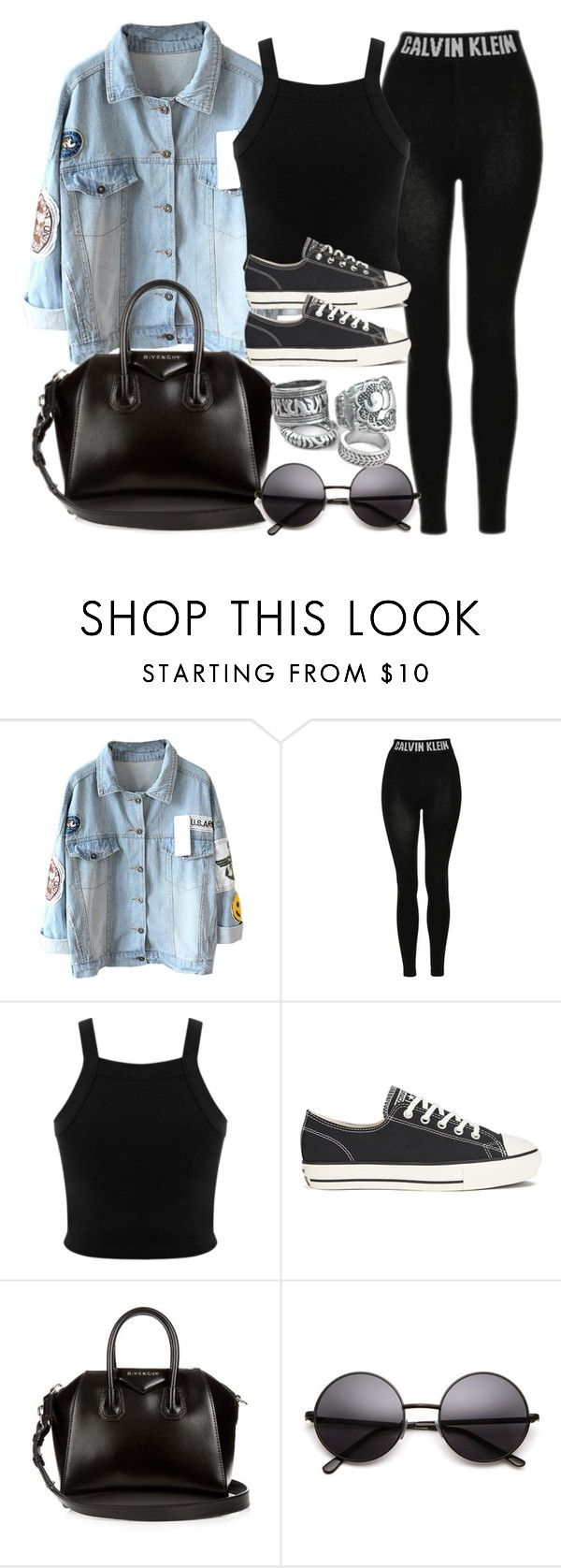 """""""Style #10595"""" by vany-alvarado ❤ liked on Polyvore featuring Topshop, Miss Selfridge, Converse and Givenchy"""