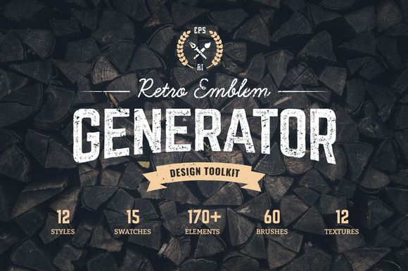 Retro Emblem Generator - Discover easy and fun way of creating vintage logo or badge in Adobe Illustrator!