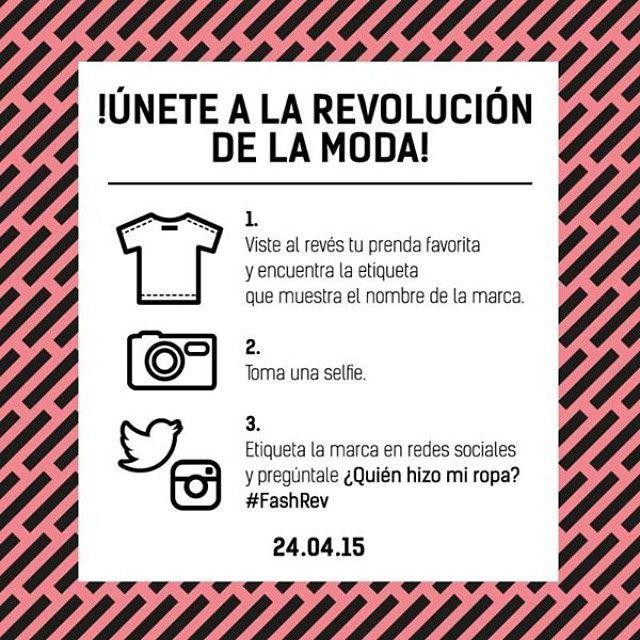 Fashion Revolution day is coming  April 24th 2015 #FashRev