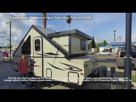 New 2017 Forest River RV Rockwood Hard Side High Wall Series A214HW Folding Pop-Up Camper at Vermont Country Campers | East Montpelier, VT | #NP9850