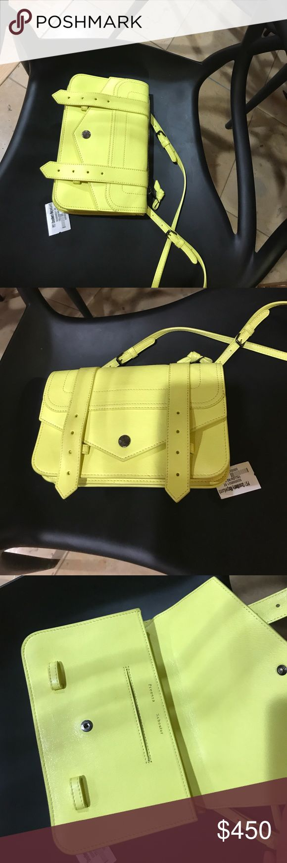 🖤Proenza schoulder PS1  bag light yellow Great . Authentic Proenza Schouler Bags Shoulder Bags