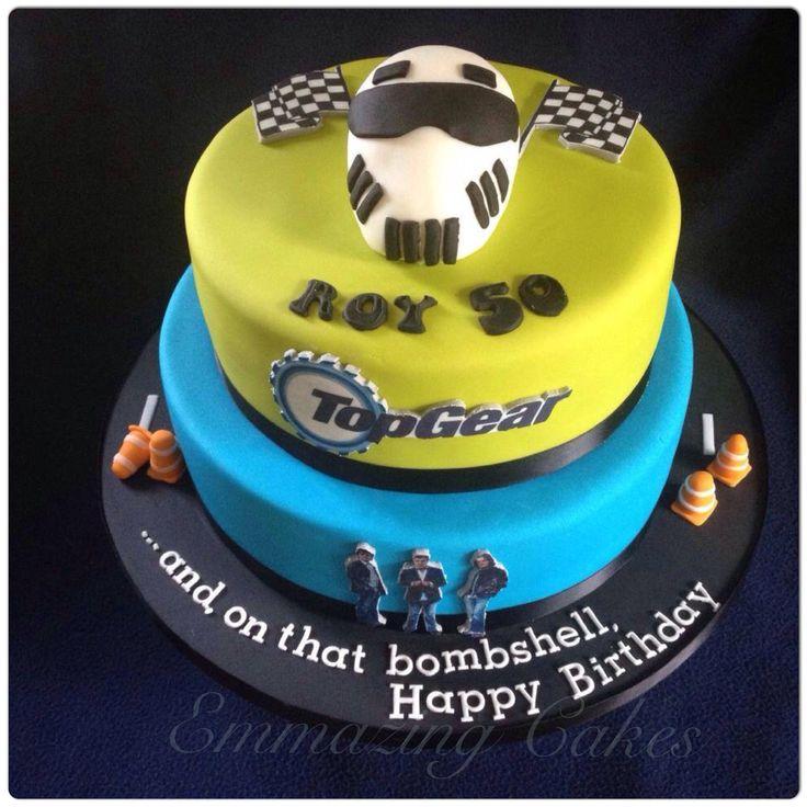 Top Gear themed cake