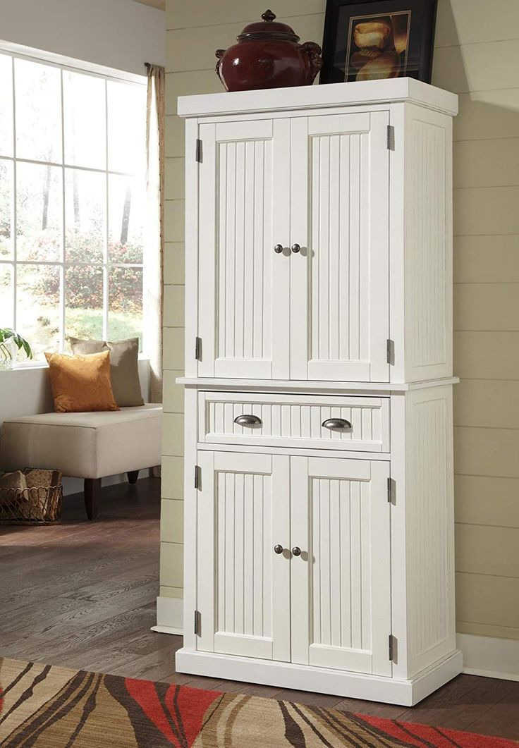 This Farmhouse Piece Will Add Storage And Organization As Well As Add That French Country Touc Wood Pantry Cabinet Kitchen Cabinet Storage Tall Kitchen Storage
