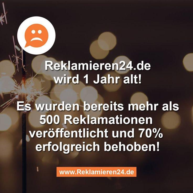 Reklamieren24.de wird 1 Jahr alt!  #reklamieren24 #reklamation #beschwerde #reklamieren #beschwerdeplattform #verbraucherschutz #stuttgart #startup #verbraucher