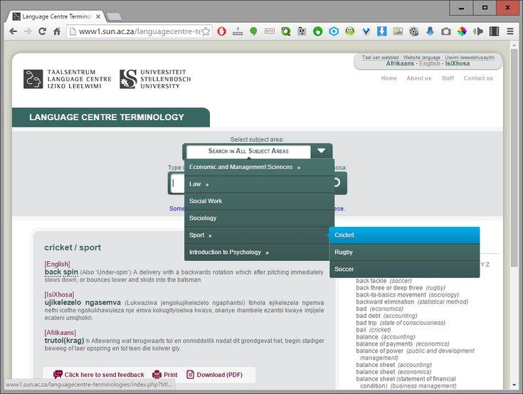 TshwaneDJe Blog: tlTerm Showcase: Multilingual Terminology Website ...