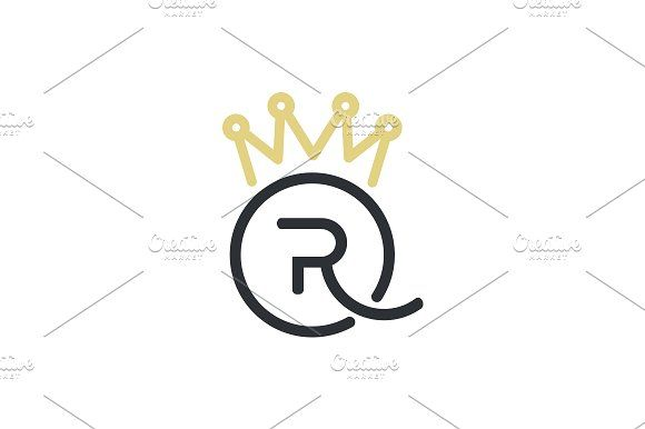 Royal Queen letters and crown logo by SuperAccurate on @creativemarket