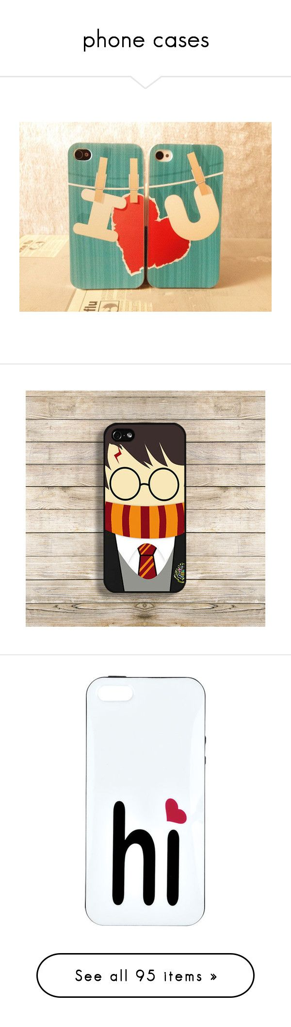 """""""phone cases"""" by fangirlwriter ❤ liked on Polyvore featuring accessories, tech accessories, couples, phone case, phone cases, harry potter, phone, cases, apple iphone cases and iphone case"""