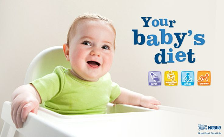 Your baby's diet - Serving size guide to solids depending on age and stage.