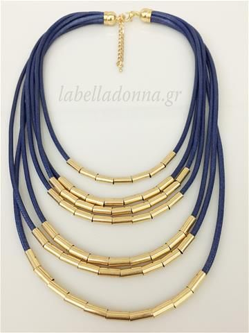 Labelladonna.gr - Statement Necklace Blue