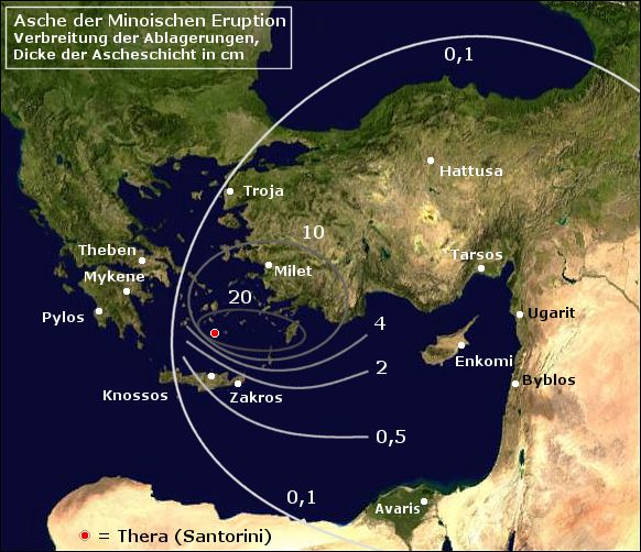 dating the minoan eruption of santorini Date of the volcanic eruption of thera (santorini) the dates obtained are always about 100 years higher using radiocarbon dating the thera eruption minoan.