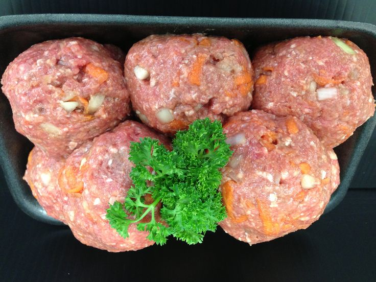 GLUTEN FREE HOMESTYLE RISSOLES - Just like the ones Mum used to make! Top grade yearling beef mince, carrot, onion, egg and tomato sauce. #adamsfamilymeats #glutenfree #homestylerissoles #rissoles #meatpatties #mince
