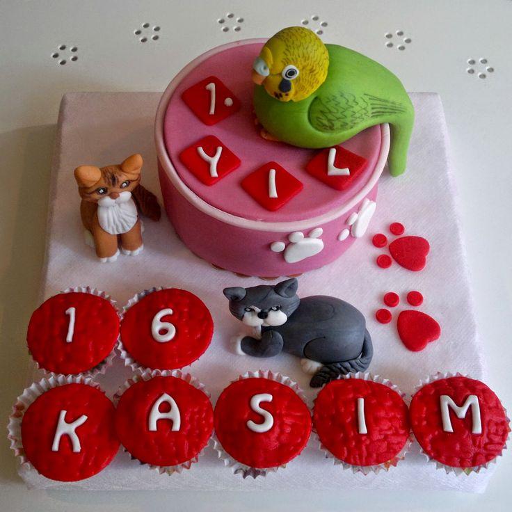 CAFEMORİN BUDGIE & CATS ANNIVERSARY CAKE