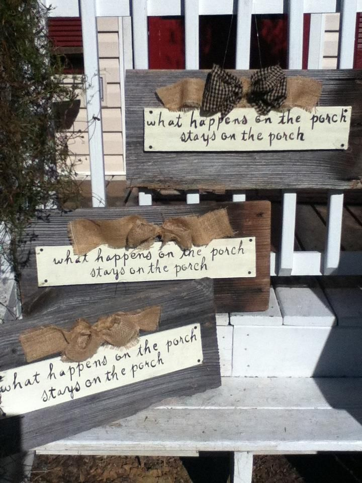 Porch Signs Welcome My Barn Wood what Happens On