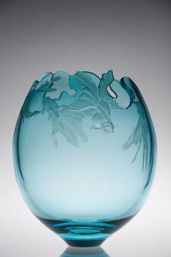 Miki Kubo - Goldfish. 2011, blown, engraved & carved glass.
