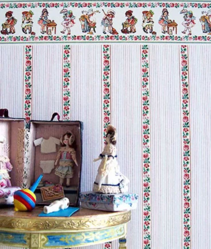 113 Best Images About Wallpaper For Dollhouse On Pinterest