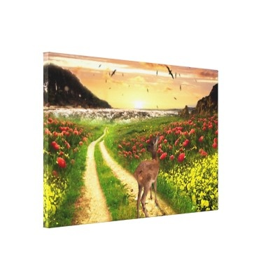 meadow design stretched canvas prints  All products with this design you can find here: http://www.zazzle.com/ann_geldesign/gifts?gp=105914692435017463