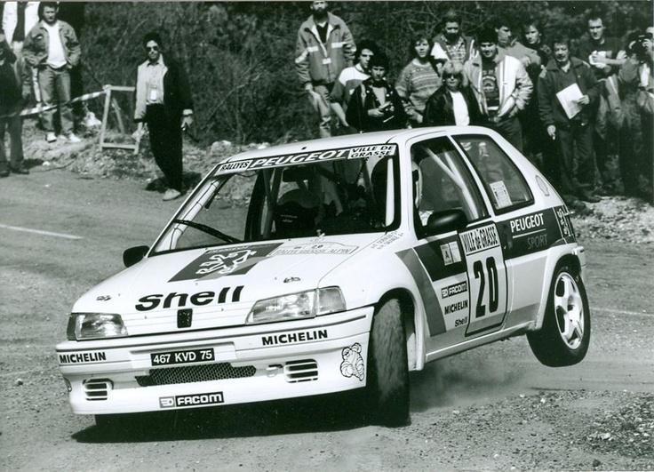 ra Fabien Doenlen - Hervé Sauvage-Peugeot 106 Rallye Gr.A-Peugeot Talbot Sport-Rallye Grasse - Alpin 1994