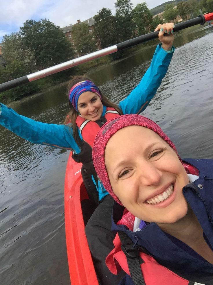 Julia in Action - Urban Kayaking. Oder: Städtetour mit Sporteinlage