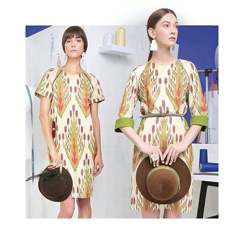 Keep it cool & simple! Lali #Resort18 summer looks of cotton and silk that suits any occation! Всё гениальное - просто! Легкие летние платья из хлопка и шелка скрасят летние будни, придав комфорт и прохладу. #LaliSummerAtelier #Resort2018    Ювелирные украшения: @holmuradov_design  Обувь: @basconiuz    #ikat #fashion #uzbekistan #madewithlove @lalifashion