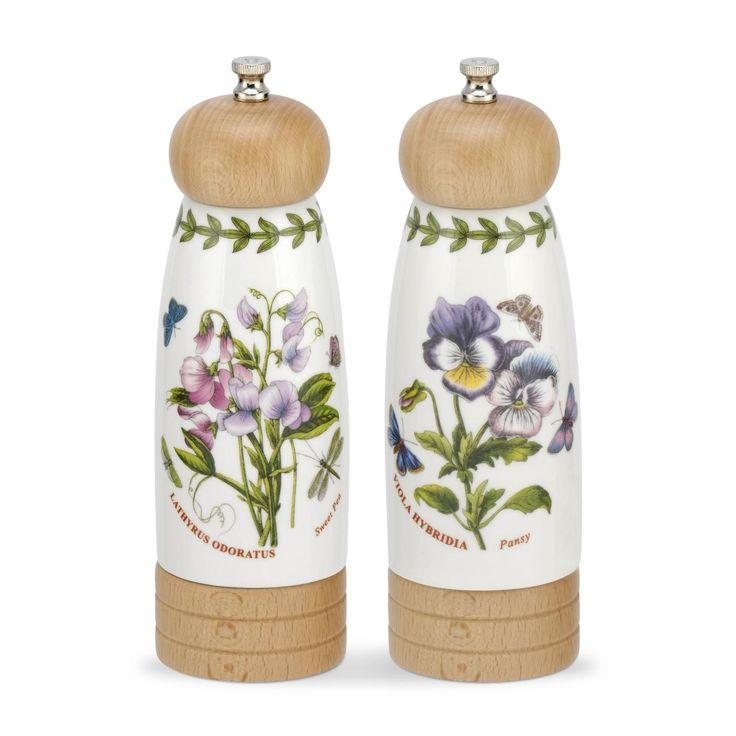 Portmeirion Botanic Garden Salt & Pepper Mills -Portmeirion UK