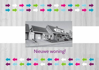 Verhuiskaart pijlen met foto - Verhuiskaarten - Kaartje2go
