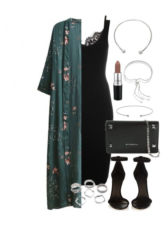 """""""Untitled #3918"""" by theeuropeancloset on Polyvore featuring Givenchy, WithChic, Isabel Marant, NOVICA, MAC Cosmetics and Monica Vinader"""