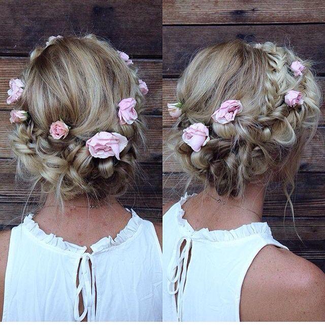 Pinterest Wedding Hair Ideas: Boho Floral Up Do