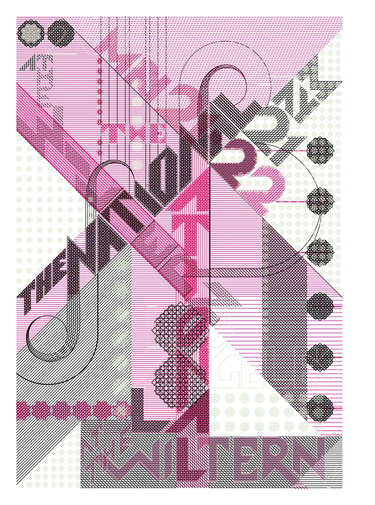 Marian Bantjes, The National (Wiltern), poster for The National, vector art, 2010 | ##graphic #design #mudac #typography #wunderkammer