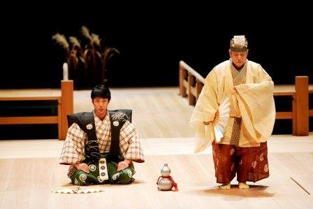 Mansai Nomura and his father, Mansaku Nomura are the most famous actors of Kyogen 狂言.  Kyogen is traditional Japanese comic theater.