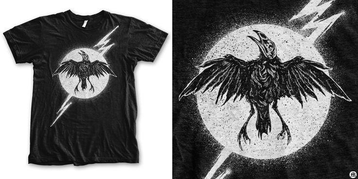 """Thunder night"" t-shirt design by sebrodbrick"