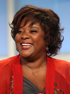 Loretta Devine (born August 21, 1949) is an American stage, film and television actress known for her roles on Boston Public, Grey's Anatomy, Eli Stone, and State of Georgia. She also provided her voice for the stop motion animated television series The PJs. Devine is a five-time NAACP Image Award winner. Most recently, she received her first Emmy Award nomination for her guest role as Adele Webber in Grey's Anatomy. She appears on Glee as Sister Mary Constance.