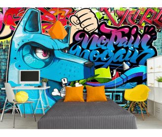 les 25 meilleures id es de la cat gorie papier peint graffiti sur pinterest chambre graffiti. Black Bedroom Furniture Sets. Home Design Ideas